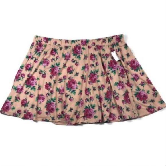 bfe40c8144 Joe Boxer Skirts | Junior Plus Size 3x Skater Skirt Floral | Poshmark